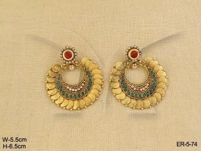 temple-jewellery-earrings-manekratna-laxmi-coin-temple-jewellery-earrings-14196719914gnk8