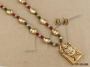 Temple Jewellery Pendant sets : Balaji Temple Pendant Sets