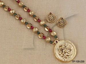Temple Jewellery Pendant sets : Ganpati Temple Pendant Sets