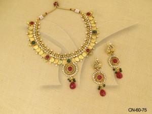 Divine Temple Coin Necklace Set Manek Ratna  | Temple Jewellery Coin Sets | Manek Ratna
