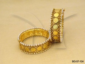 Temple Coin Bangles , Laxmi Mata Coin Antique Bangles Jewellery | Manek Ratna