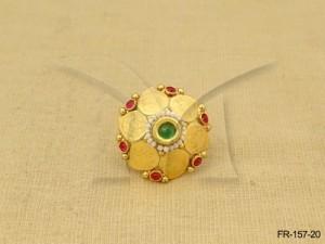 Temple Jewellery , Kemp-finger-ring-fr-157mo-20 | Manek Ratna