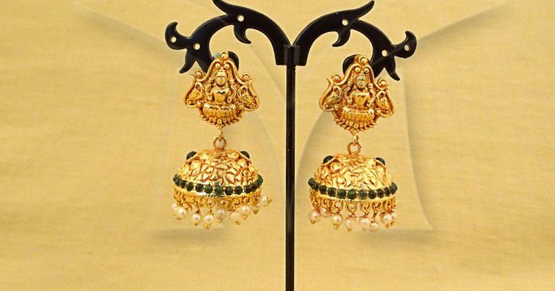 Laxmi Jhumki Temple Earring