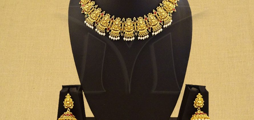 Laxmi Ji Temple Jewellery Necklace