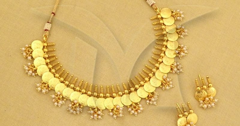 Temple jewellery Coin necklace