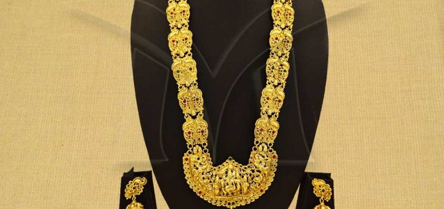 Long Temple Jewellery Necklace Set
