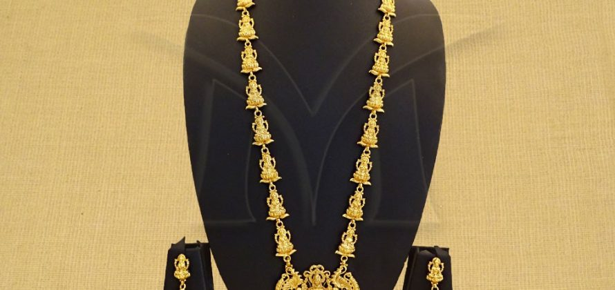 Long Temple jewelry necklace Set