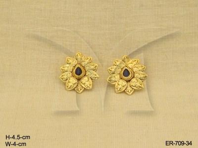 Temple Jewellery Earrings : Mataji In Flower Golden Temple
