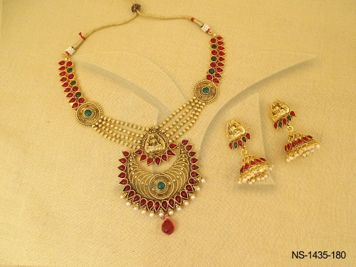 Temple Jewellery , Four Layered Chand Style Temple Kemp ...