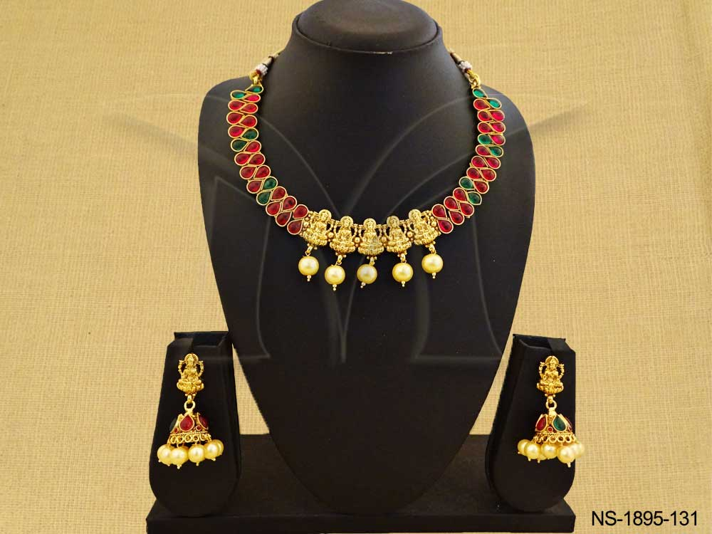 Panch Mukhi Temple Necklace Set