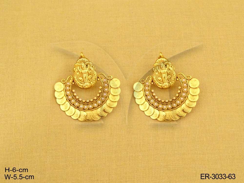 3d05c70f65788 Laxmi Ji Temple Jewellery Coin Earrings