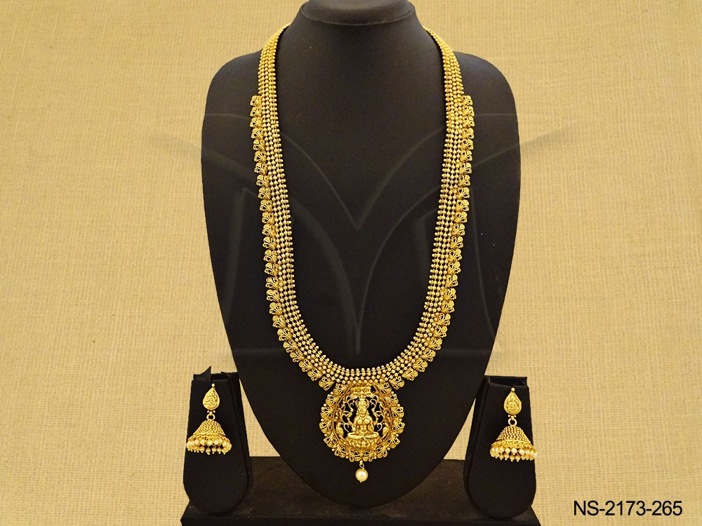 Long Temple Necklace Set