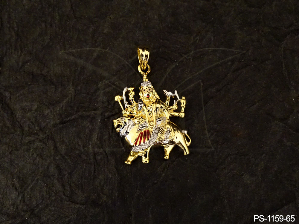 Temple Jewellery AD Pendant Set