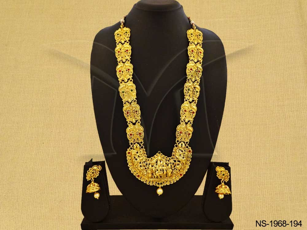 Long Temple Jewellery Necklace Set