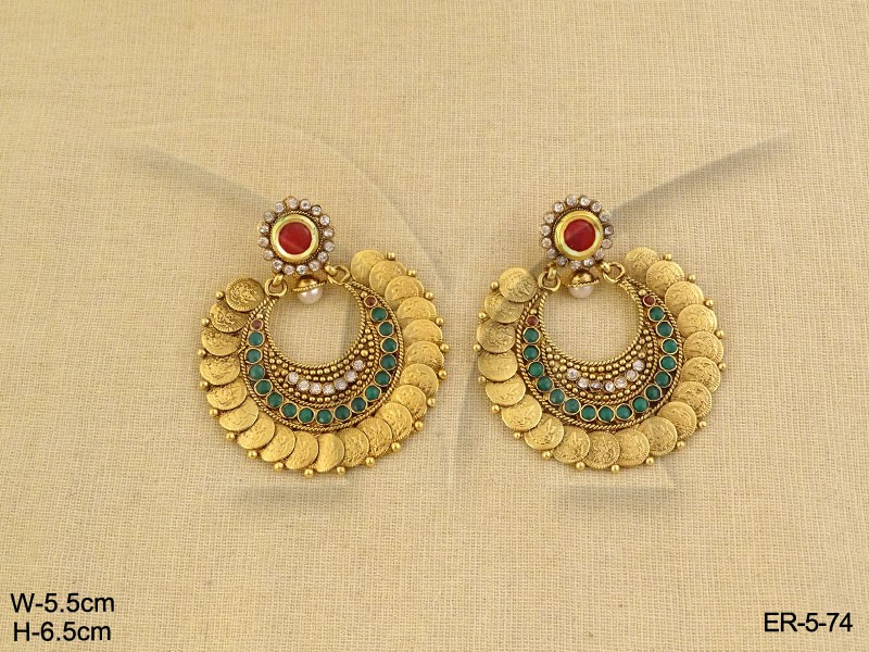 Coin Temple jewelry Earrings