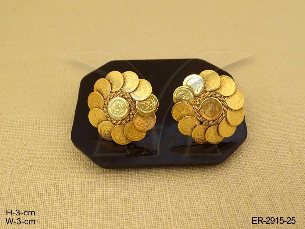 Temple Jewellery Coin Earrings