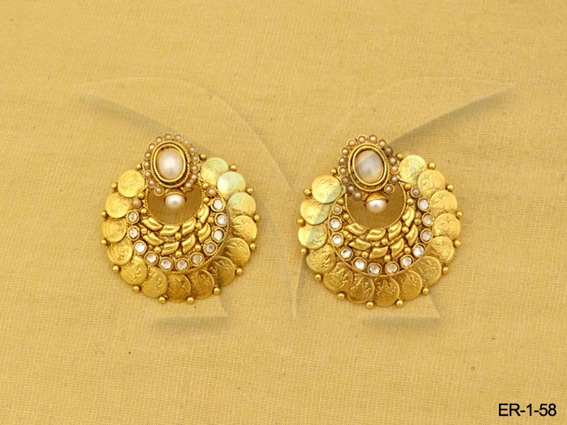 Temple Jewellery Coin Earrings