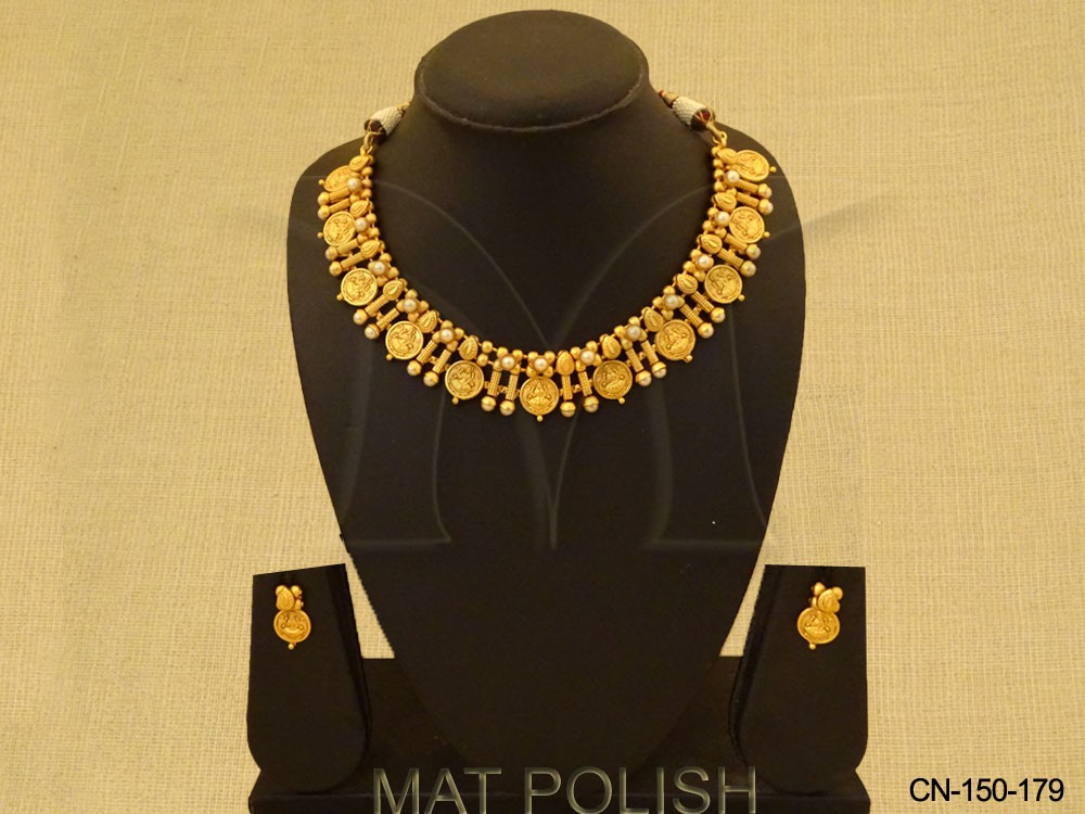 South Indian Temple Coin Necklace Set