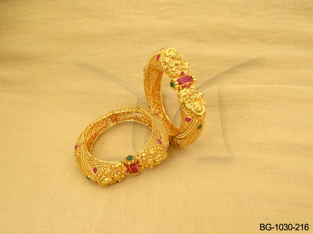 South Indian Temple Bangle Set