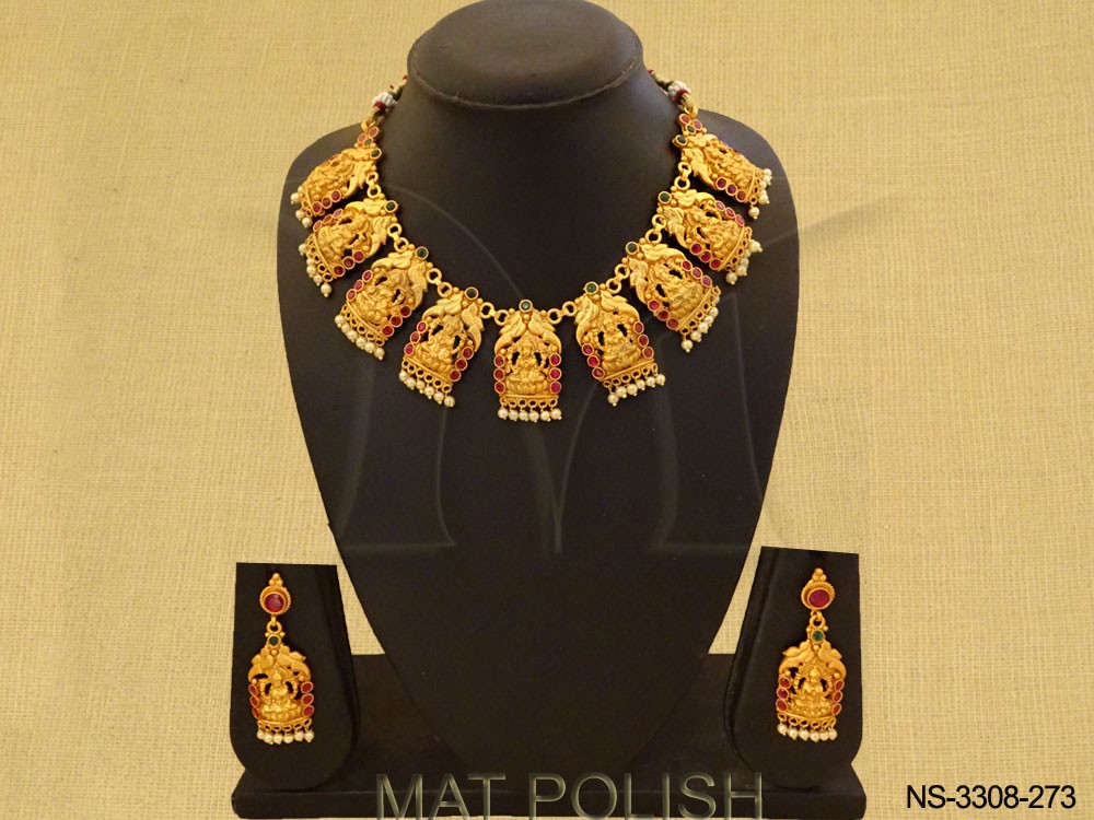 Temple South Indian Necklace Set