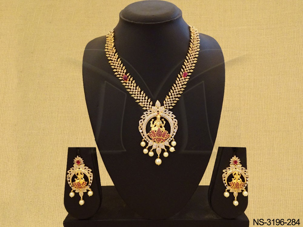 Traditional Temple American Diamond Necklace