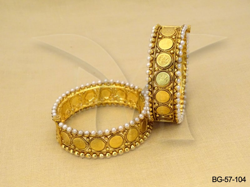 Temple Jewellery Coin Bangles