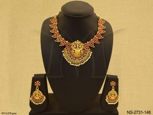 Laxmi Ji Designed Temple Necklace Set