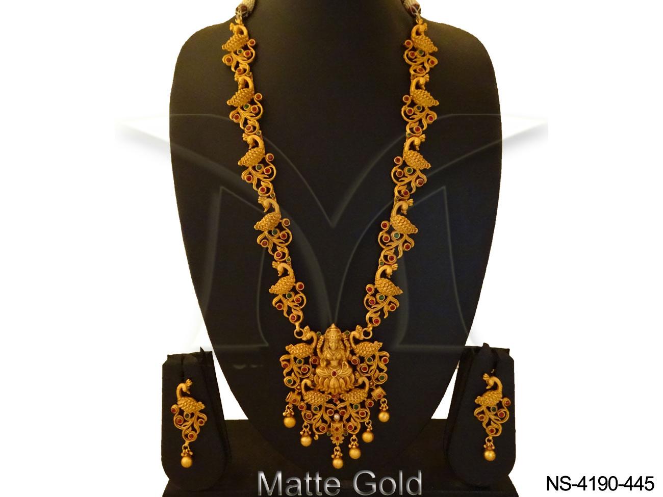 Long South Indain Temple Necklace