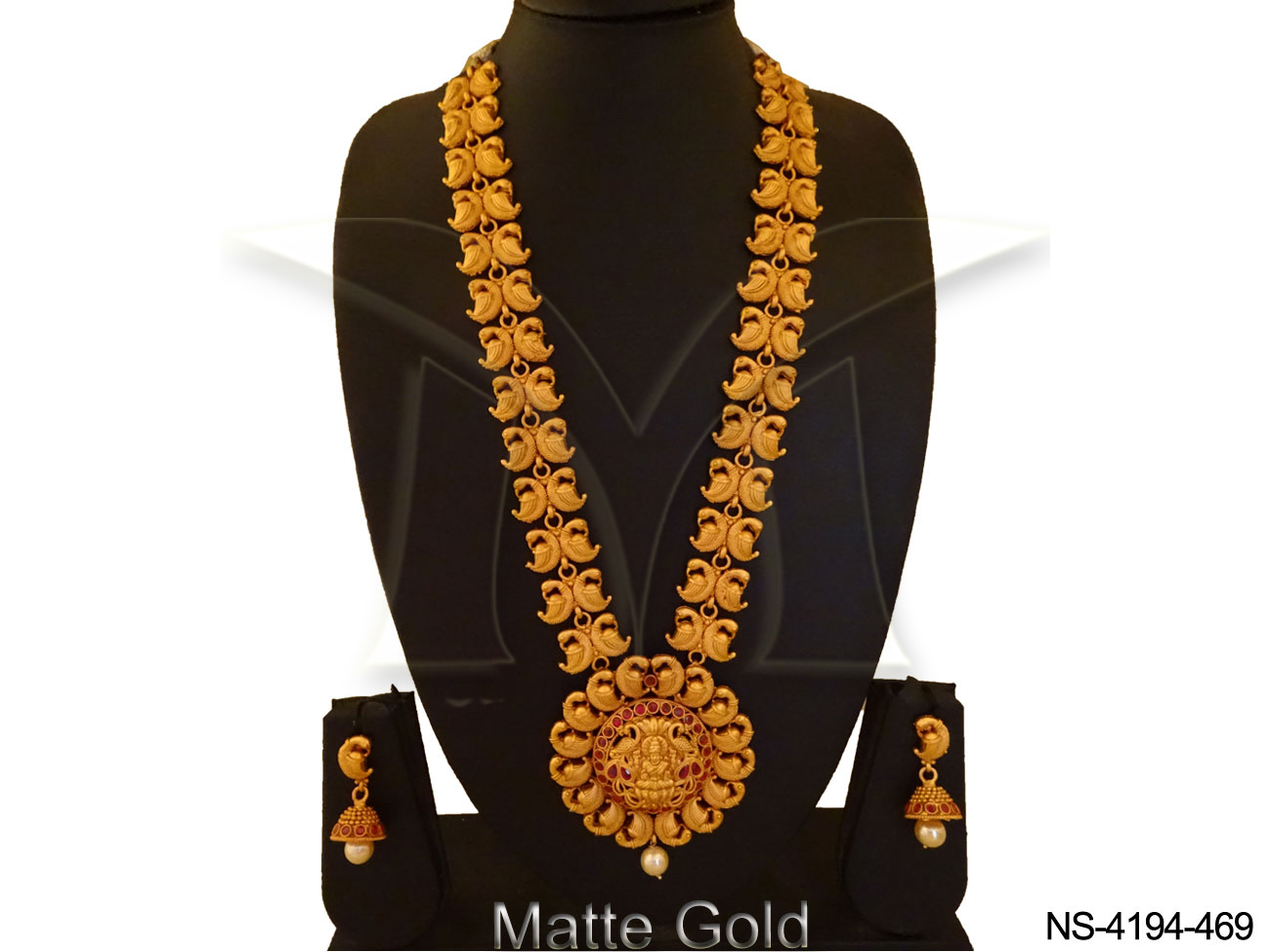 South Indian Temple Necklace Set