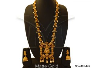 Long South Indian Temple Necklace Jewellery