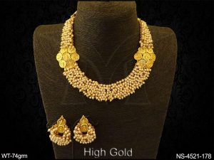 Temple Necklace Set Jewellery