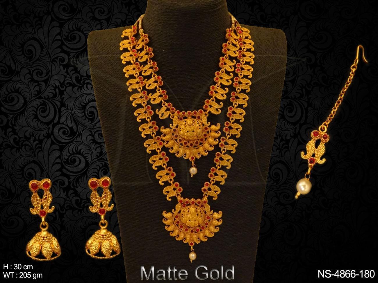 Temple Necklace Set Jewellery